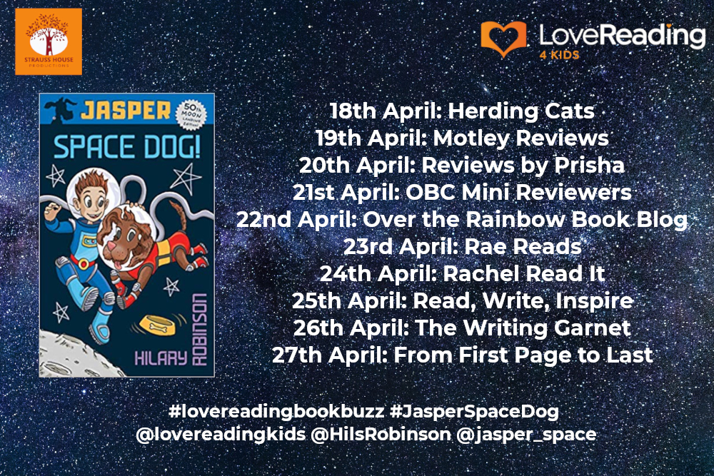 Jasper: Space Dog by Hilary Robinson and Lewis James Ambassador Book Buzz Poster