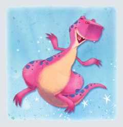 usborne reading pink dragon