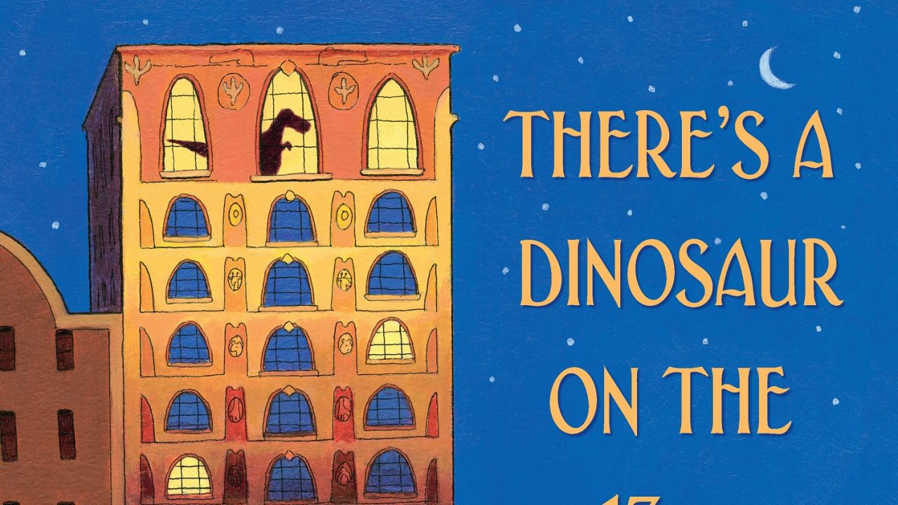 Win a hardback copy of There's a Dinosaur on the 13th Floor!