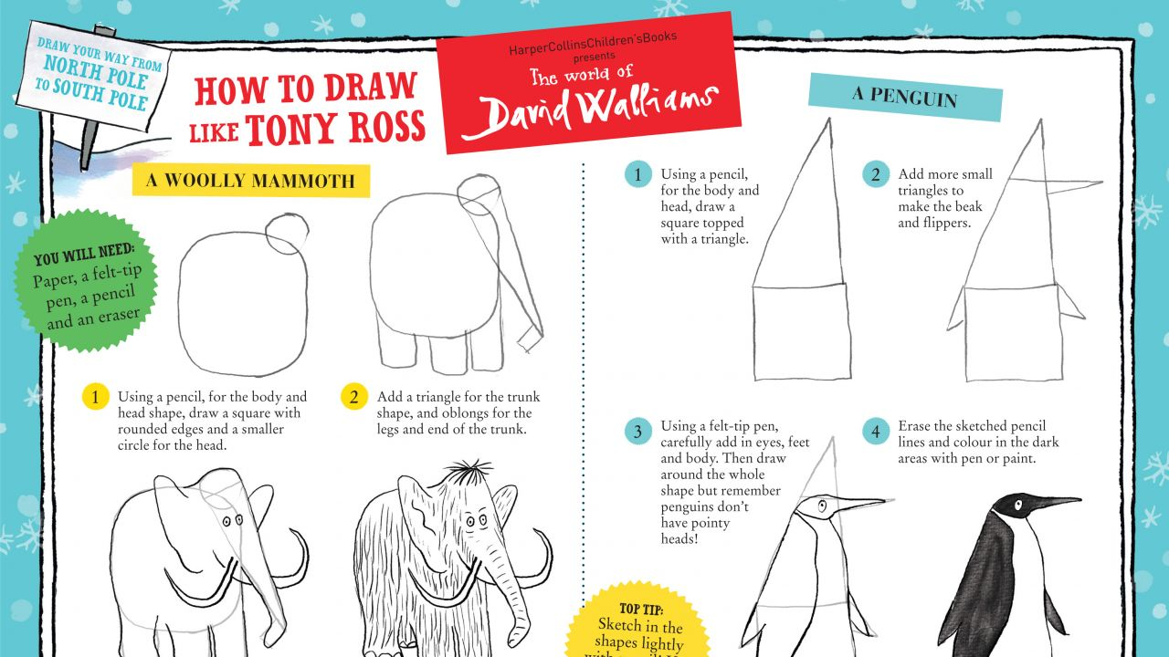 Learn to draw like Tony Ross!
