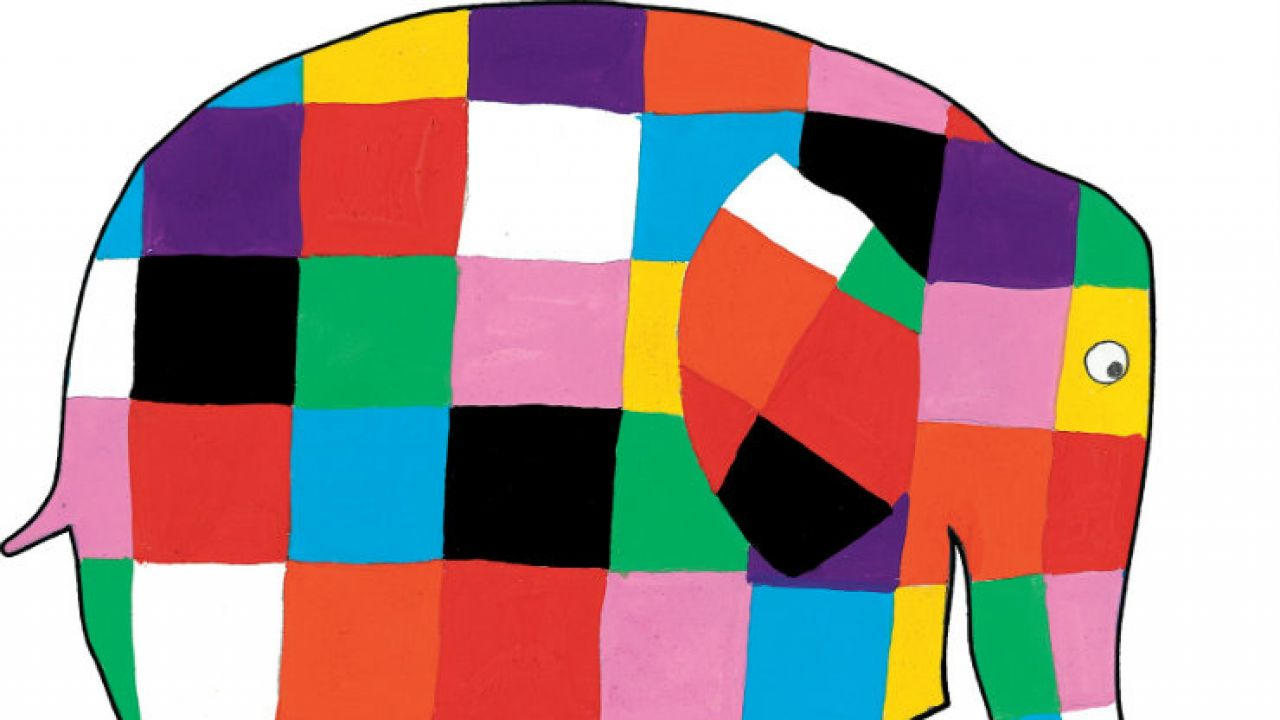 Colour in your own Elmer!