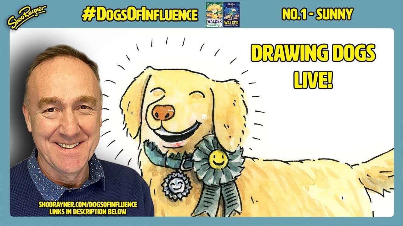 Learn how to draw Sunny, the Golden Retriever!